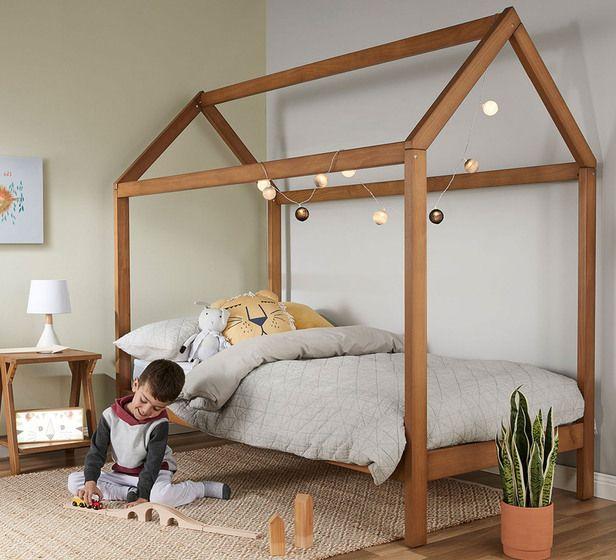 House Single Bed Fantastic Furniture In 2020 Toddler House Bed House Beds For Kids Kids Bedding Australia