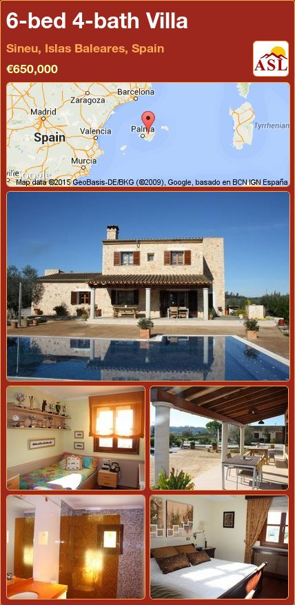 6-bed 4-bath Villa in Sineu, Islas Baleares, Spain ►€650,000 #PropertyForSaleInSpain