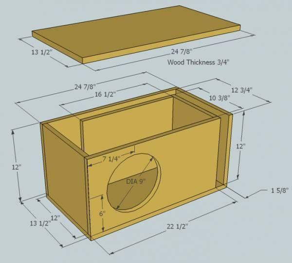 8 12 Inch Sub Box Plans In 2020 Subwoofer Box Design Diy Subwoofer Box Subwoofer Box