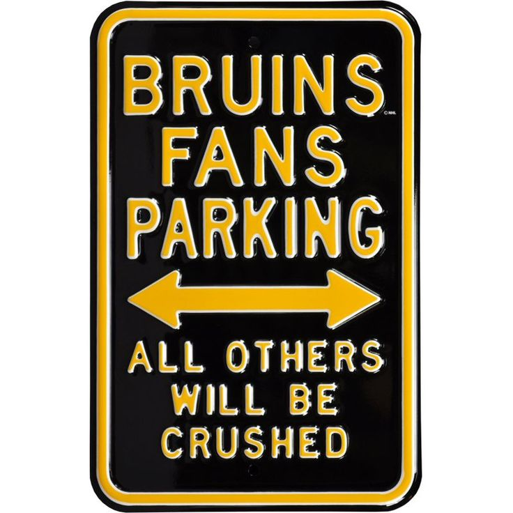 Authentic Street Signs Boston Bruins Parking Sign, Team