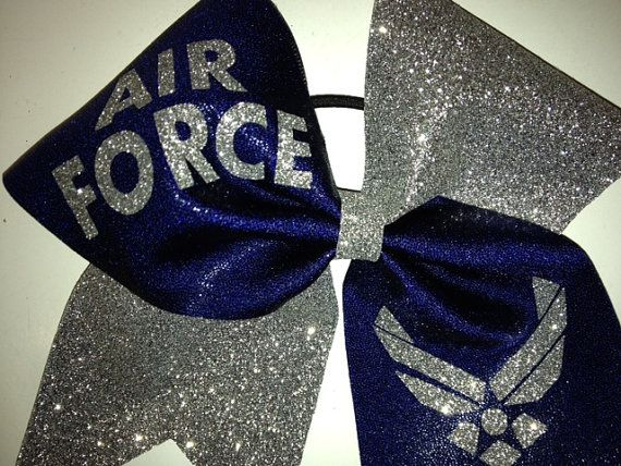 Air Force Cheer bow by UltimateCheerBow on Etsy, $12.00