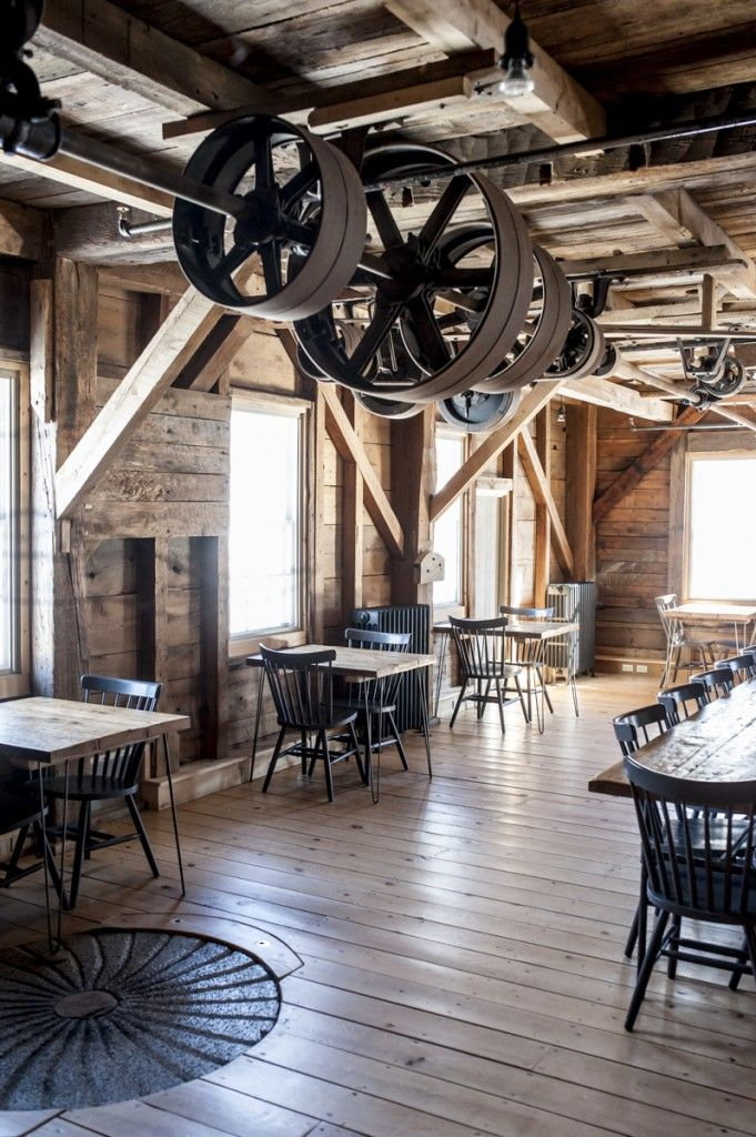 The Lost Kitchen occupies the ground floor of the restored Mill at Freedom Falls.