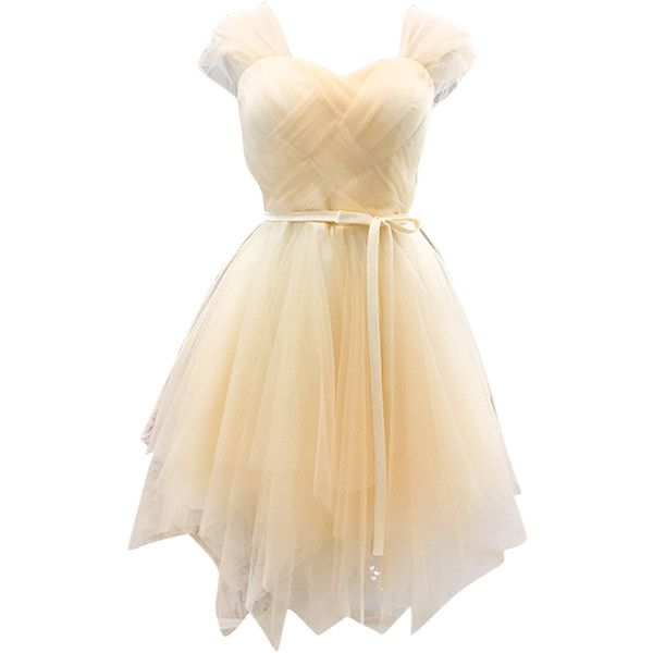 Beige Sweetheart Stretch Back Tulle Homecoming Dress ($27) ❤ liked on Polyvore featuring dresses, stretchy dresses, stretch dresses, sweetheart neckline dresses, tulle cocktail dresses and tulle dress