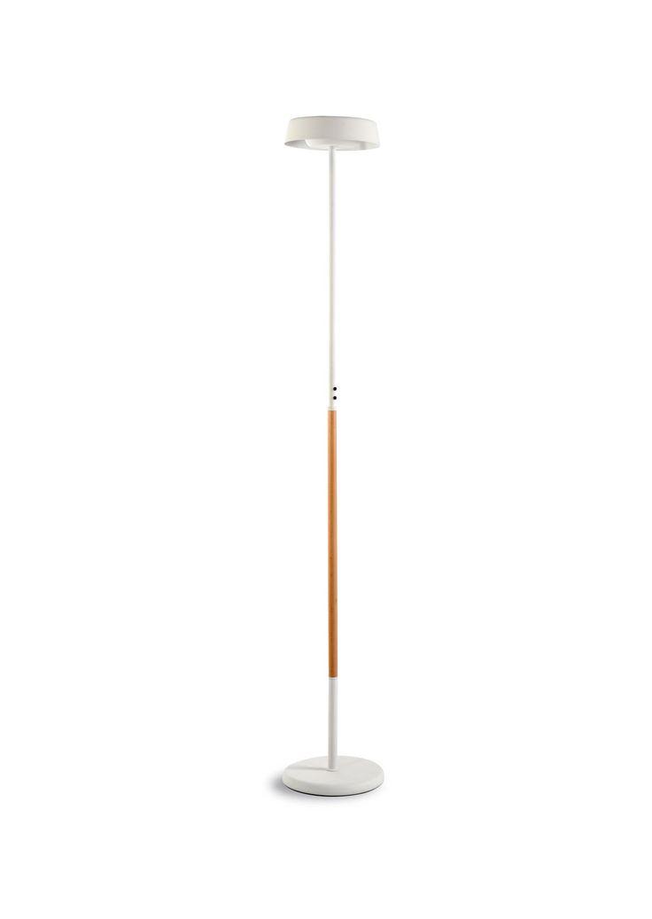 Lámpara de pie blanco madera NOA - La Casa de la Lámpara