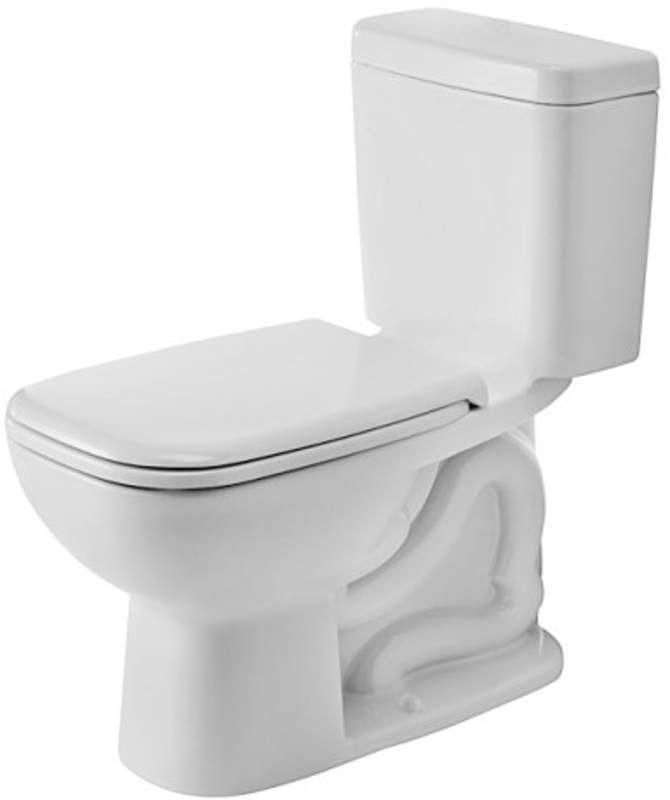 Duravit 0117010062 D-Code Rectangular Toilet Bowl Only - Less Tank and Seat White Fixture Toilet Bowl Only