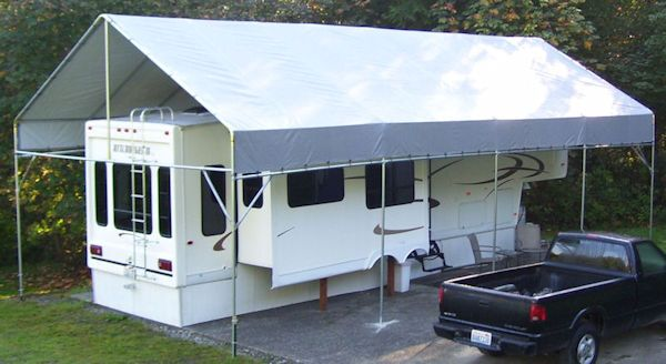 17 best ideas about rv carports on pinterest rv covers for Rv garage kits for sale
