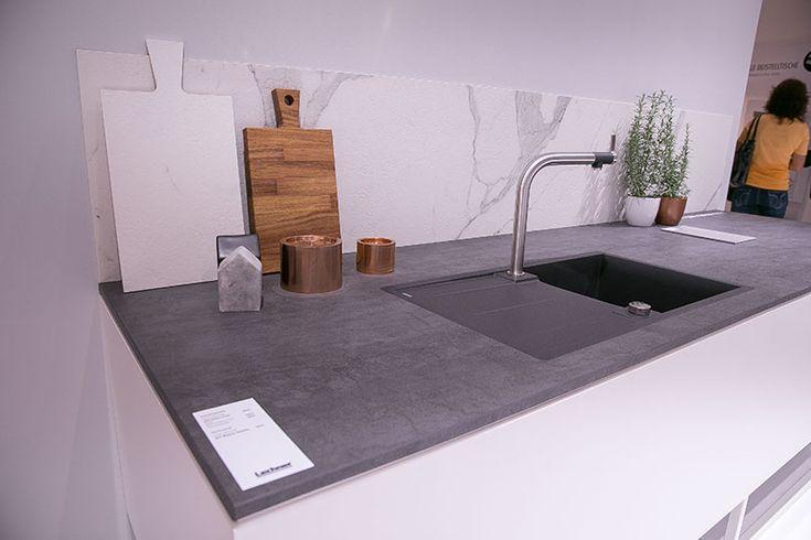 Küchentrends 2016 - graue Arbeitsplatte