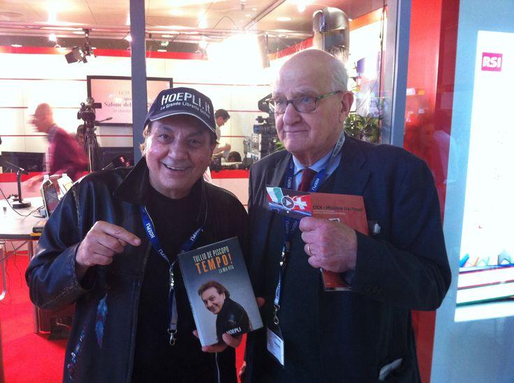 Il Maestro arriva al Salone di Torino 2014 con Ulrico Carlo Hoepli per la prima presentazione ufficiale del libro! #tulliotour