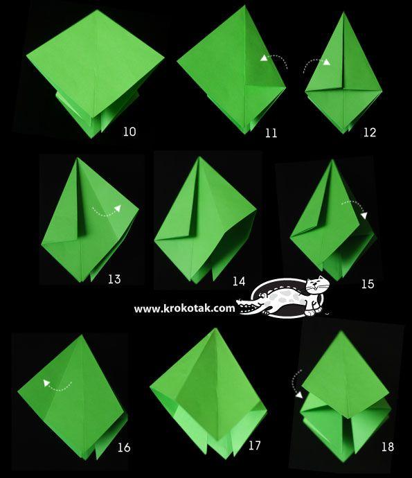 Хартиена елхичка с нагъване full picture instructions for folded Christmas trees