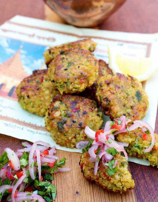 Yellow Split Pea Fritters #Sides #Healthy #SideDish