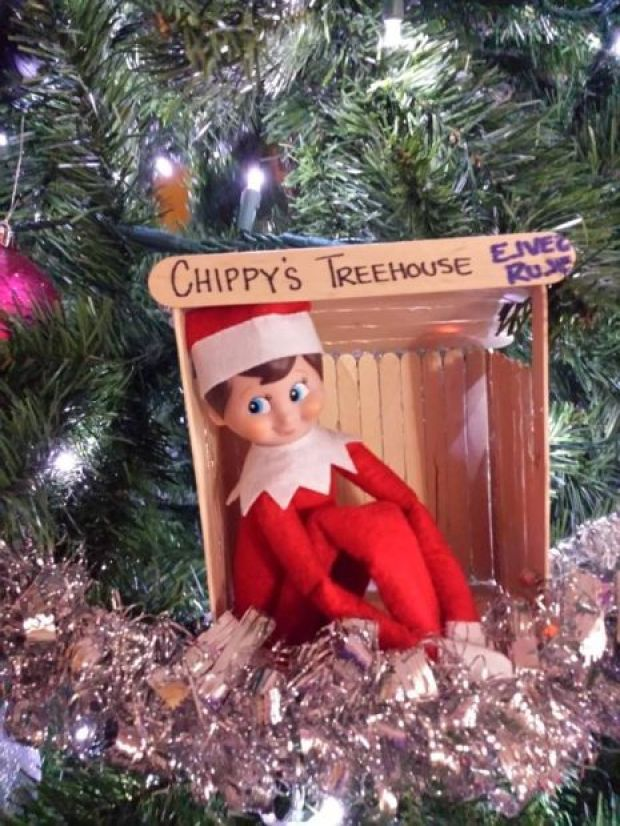 Elf on the Shelf Treehouse (image only)