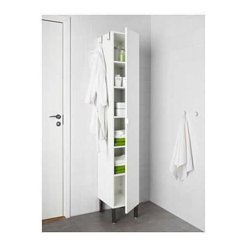 LILLÅNGEN Hoge kast 1 deur, wit wit 30x38x194 cm €110,-
