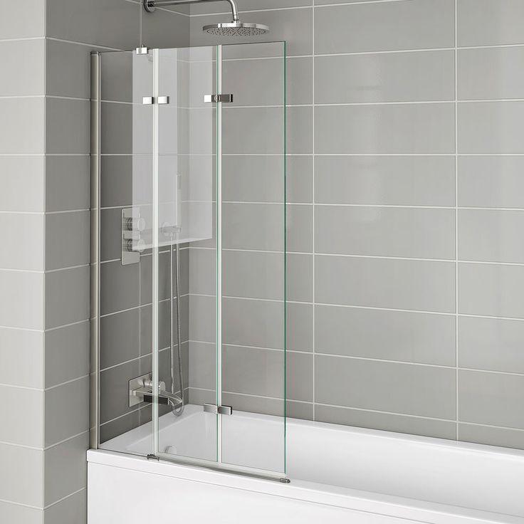 Details About 800mm Folding Bath Shower Screen Luxury Modern Easy Clean Glass Bathroom Panel