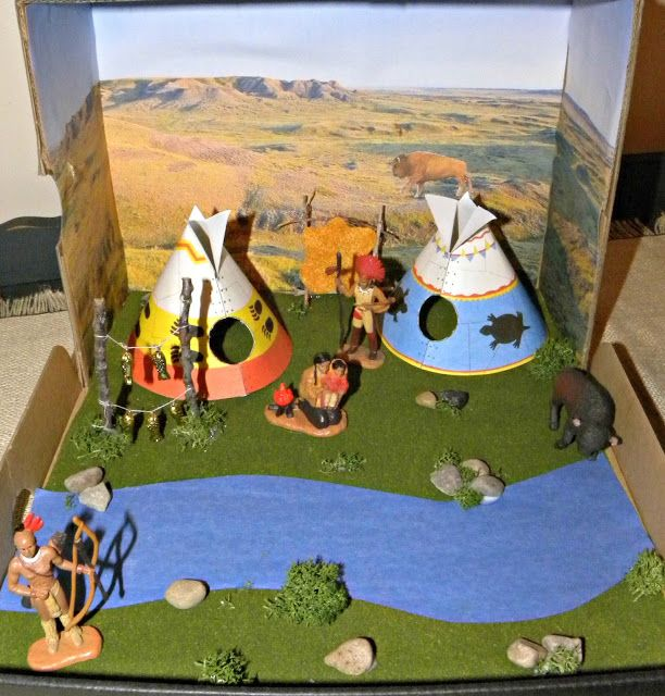 The Grace Filled Home Shoe Box Diorama Plains Indian