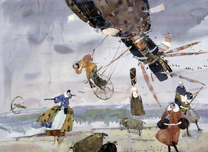Акварели Воцмуша - Все интересное в искусстве и не только.