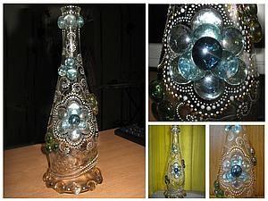 Создание хрустальной сказки (роспись стеклянной бутыли) - Ярмарка Мастеров - ручная работа, handmade, мастер-класс