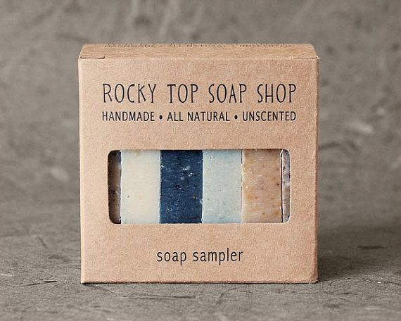 Exfoliating Soap Sampler All Natural Soap by RockyTopSoapShop