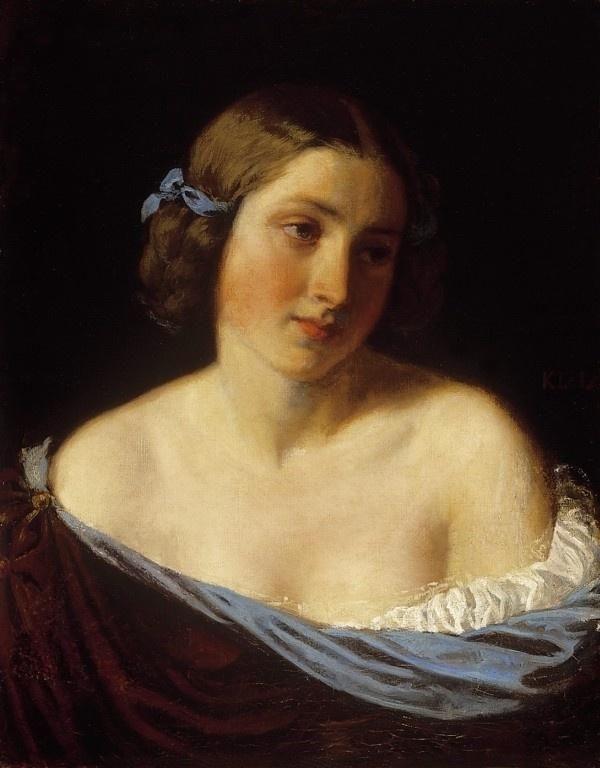 Károly Lotz, Portrait of a Young Lady