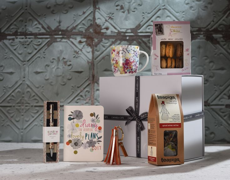 The Organised and Stylish Hamper - A hamper full of gifts to organise ourselves for the year ahead – but with a little time out with french macarons and warming and comforting tea.  A perfect Christmas gift.