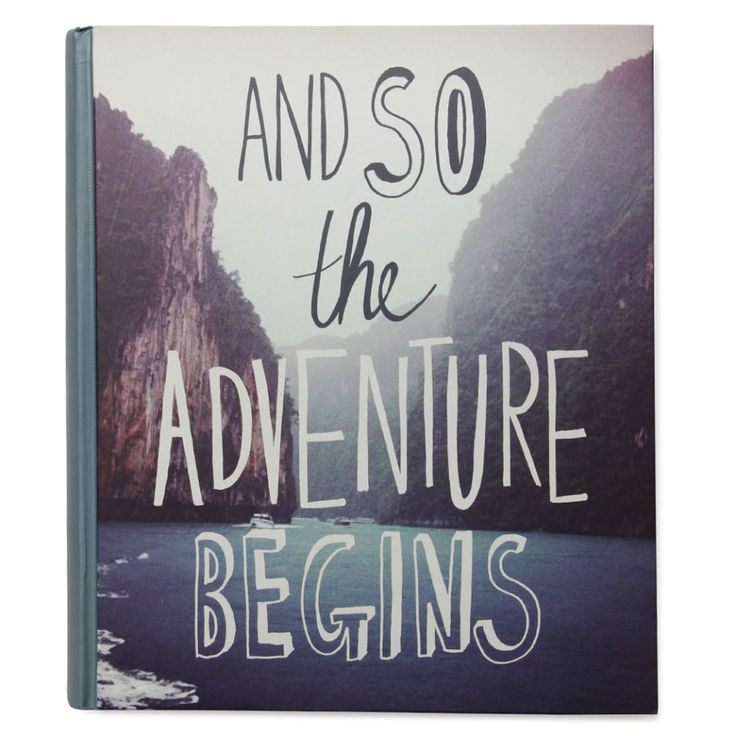Adventure large self-adhesive photo album