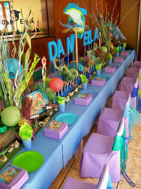 """""""Ariel - The Little Mermaid"""" Party by Treasures and Tiaras Kids Parties, via Flickr  What an amazing table!"""