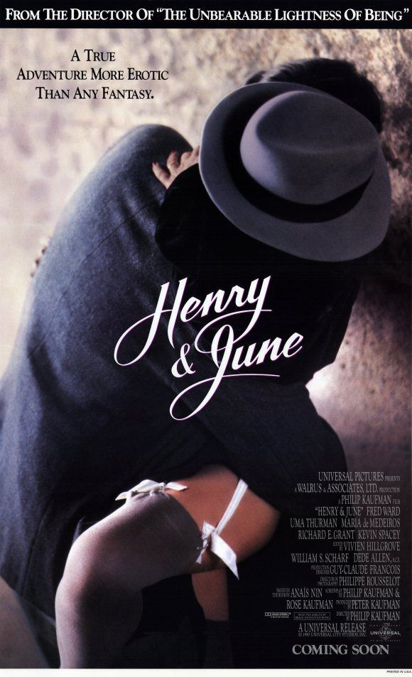 'Henry & June' with Maria de Medeiros, Richard E. Grant, Kevin Spacey, Uma Thurman & Fred Ward.