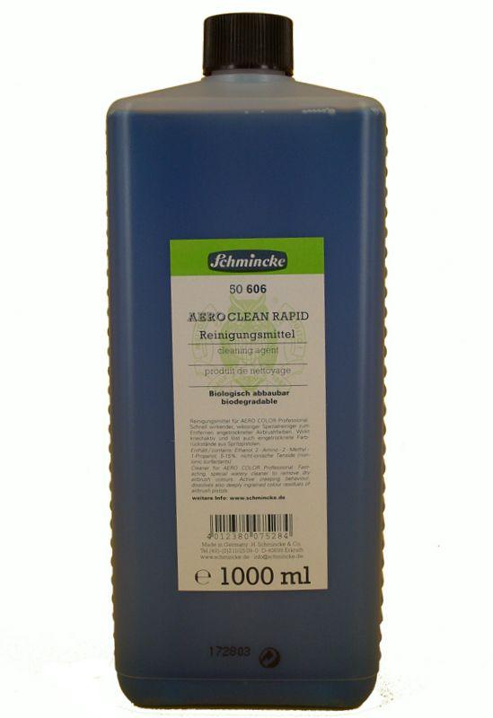 Schmincke Aero Clean Rapid Reinigingsmiddel voor schildersmaterialen zoals  airbrush, pen en penselen Biologisch afbreekbaar. Leverbaar in fles 125 ml.