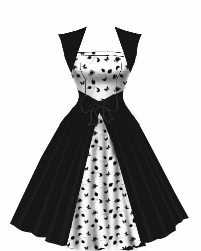 rockabilly dress - black and white