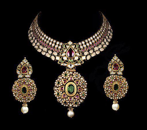Indian Jewellery and Clothing: Beautiful Kundan bridal jewellery from Gehna…