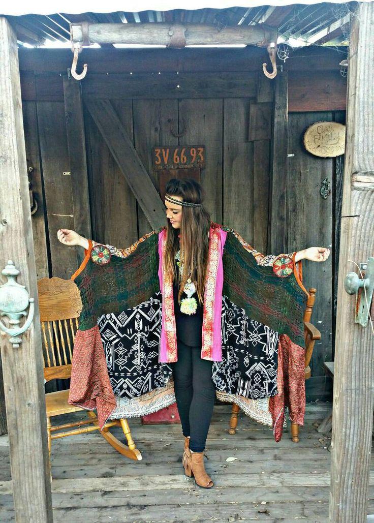Festival fashion kimono, bohemian kimono,womens kimono, gypsy kimono, ethnic kimono, hippie kimono, sweater kimono, boho fashion kimono by blitheandbliss on Etsy