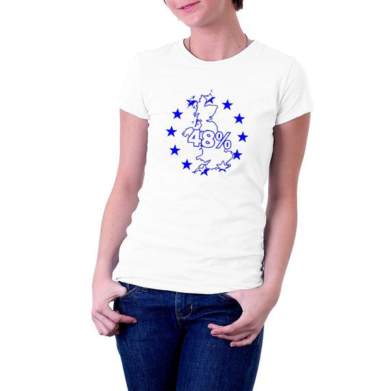 Were you one of the 48% who voted against leaving the #EU ?Tell the world /country/continent your preference and say it with pride. Long-lasting print on 185 gsm Gildan , Re... #election #vote #politics #polling #europe #referendum #uk #map #remain #brexit #t-shirt