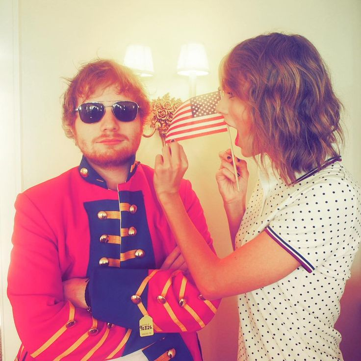 taylorswift: When Ed shows up in a red coat for the 4th of July because he just can't let it go.  @/teddysphotos