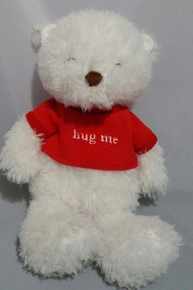Hallmark Hug Me Valentine Soft White Talking Teddy Bear Stuffed Animal #Hallmark #AllOccasion