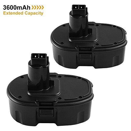 18V 3600mAh Extended Capacity Replacement Battery for Dewalt Ni-Mh XRP DC9096 DC9098 DW9095 DW9096 DW9098 DE9503 Cordless Power Tools 2-Pack #Extended #Capacity #Replacement #Battery #Dewalt #Cordless #Power #Tools #Pack