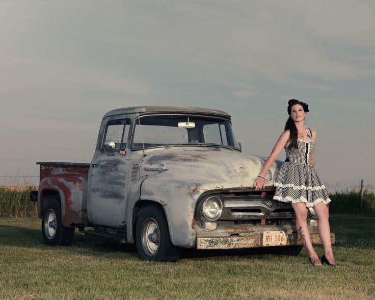56 ford f100 ford 1956 speedshopnorth pinup girl. Black Bedroom Furniture Sets. Home Design Ideas