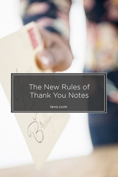 Are thank you notes the new way to stand out from the crowd?