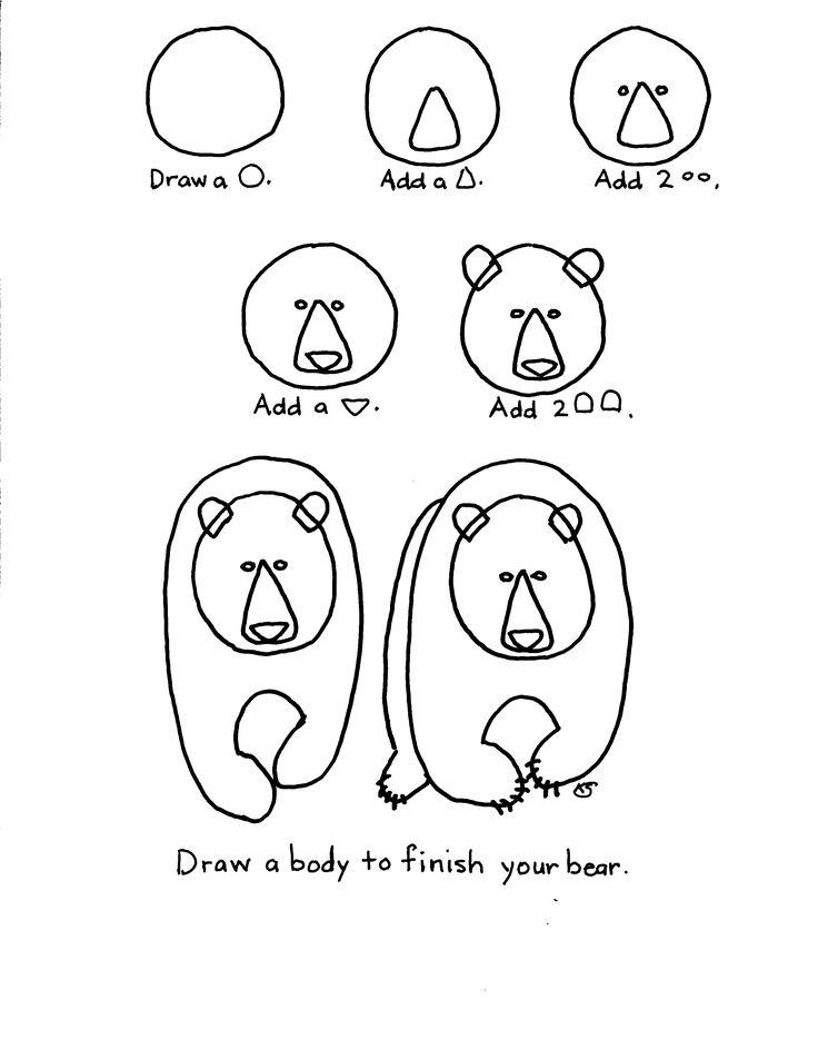 Les 40 meilleures images du tableau arbres et for t sur pinterest arts visuels cr ations d - Comment dessiner un ours ...