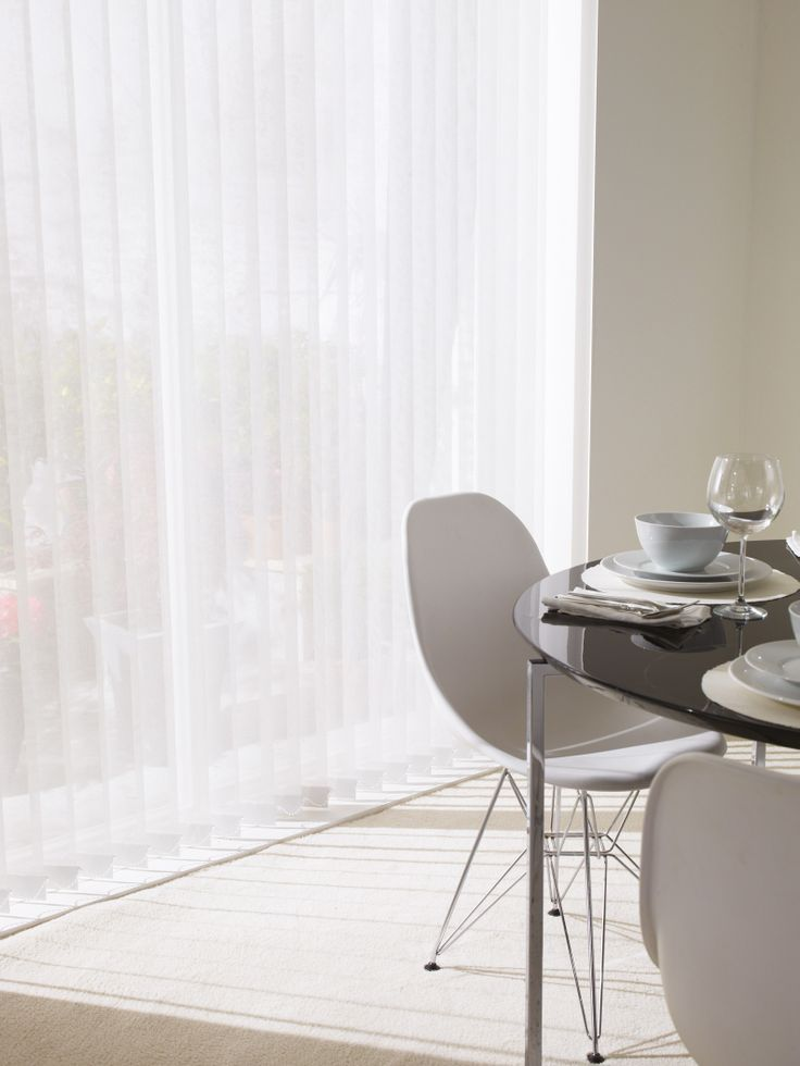 Transform Your Dining Room With Our Gorgeous Vertical Blinds Verticalblinds Whiteblinds Home