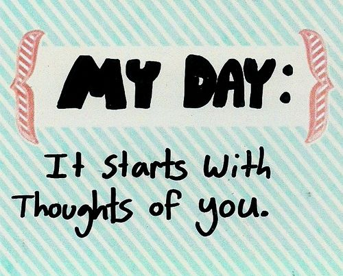 Thinking of You Quotes for Him | ... Romantic dating stripes Thinking of You cute quote my day baby blue