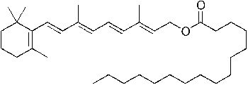 Retinyl Palmitate (Vitamin A Palmitate) is a form of Vitamin A. It is produced from Retinol (Vitamin A) and Palmitic Acid (a fatty acid). It is easily absorbed by the skin. Once absorbed, it turns first into retinol and then into retinoic acid. It is an effective antioxidant: it improves collagen production and plumps skin, helping smooth out fine lines.