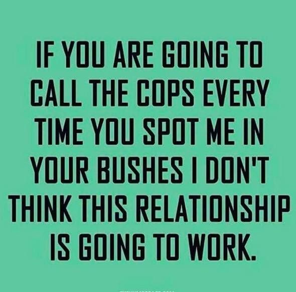 Stop calling the cops, dangit. They show up & things get awkward.....