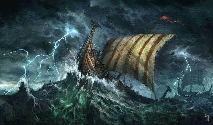 Viking ships crossing the sea | Norse | PinterestViking Ship Storm