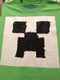 Minecraft Shirt using freezer method