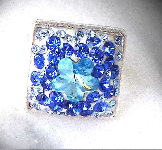 Crystal sapphire square  white crystal clay by CrystallizedByLena