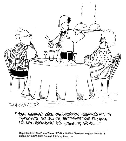 funny restaurant cartoon from November 12, 1997 ...