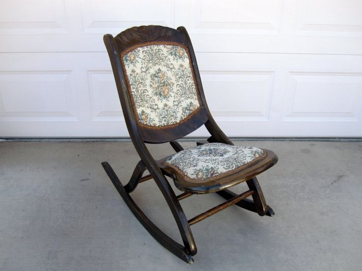 Antique Fold Up Rocking Chair