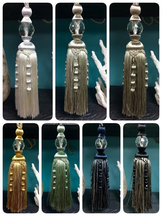 "#tosimplyshop 12"" FACETED GLASS CRYSTAL TASSEL CURTAIN TIEBACK SCTB-16 #homedecor #crystal #home"