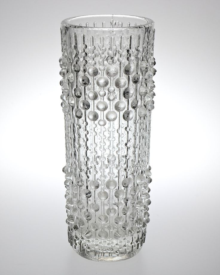 A Retro Sklo Union Czech glass vase 'Candlewax' designed by Frantisek Peceny for Hermanova Hut, a great example of 1960's modern glass in excellent condition. H 23cm. Dia 6.5cm base. Dia 8cm rim. http://www.antiques-atlas.com/antique/_sklo_union_czech_vase/as645a005