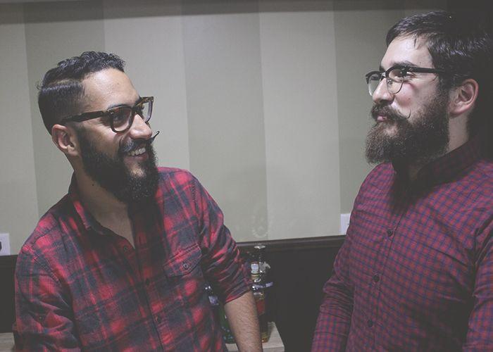Alberto Carrasco y Carlos Víctor Guzmán ingeniaron Don Porifrio Moustache Wax para peinar sus bigotes salvajes y rescatar el emblemático bigote mexicano.  foto: CFZ / @cocosoyyo