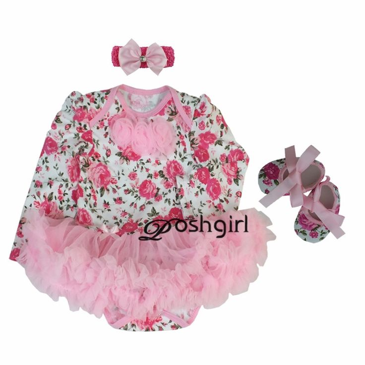11.88$  Watch now - http://alifea.shopchina.info/go.php?t=32777822183 - Pink Rose Baby Girl Clothes Newborn Bebe Party Dress Minnie Baby Born Clothing 3pcs Tutu Rompers Dresses Birthday roupas de bebe  #buychinaproducts